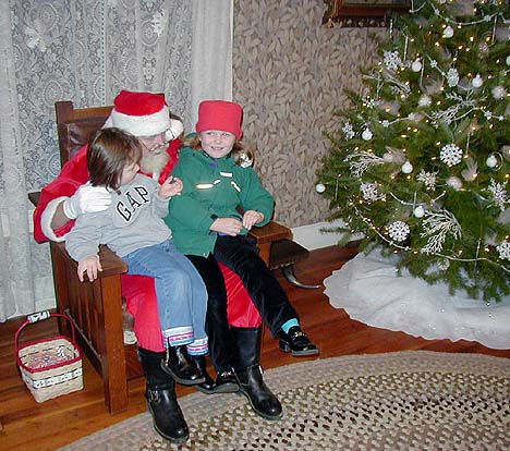 Santa in the Shields House at Pioneer Park, 2003