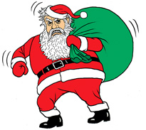 Stressed out Santa
