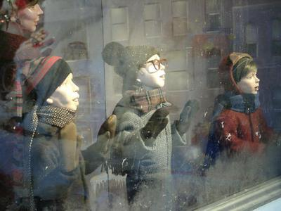 "Higbees window display, from ""A Christmas Story"""