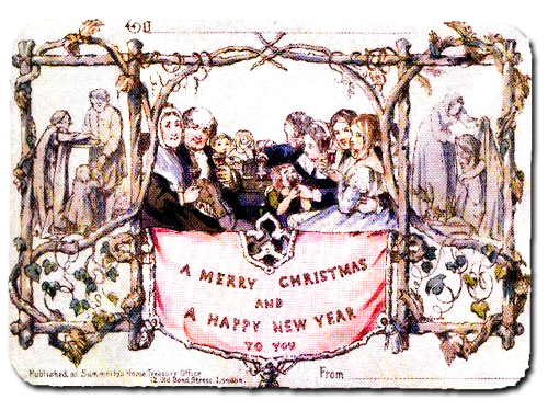 First known Christmas Card, England, 1843