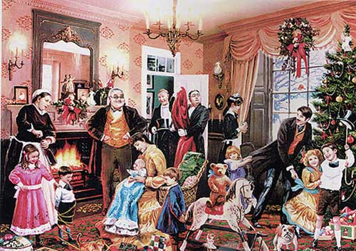 hyper idealized victorian country christmas